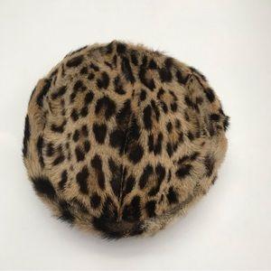 Vintage John Wanamaker Leopard Fur Pillbox Hat